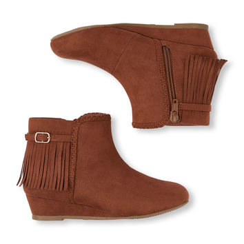 Girls Fringe Lila Bootie | The Children's Place