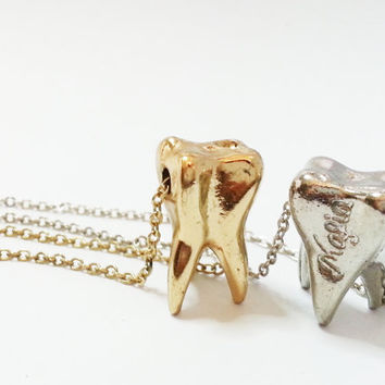 Magical Wisdom Tooth Fairy Necklace - Gold & Silver