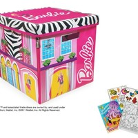 Neat Oh! Zip Bin Barbie ZipBin Dream House Toybox Playset with Coloring Activity Book