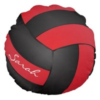 Deep Red and Black Volleyball