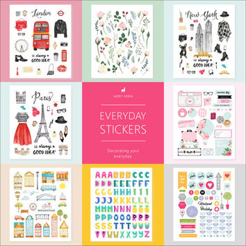 PLANNER STICKERS Back To School | Functional Planner Stickers | Flag Stickers | Planning and Organizer | Schedule | Stationery | Washi Tape