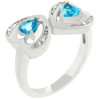 Mirrored Hearts Ring, size : 09