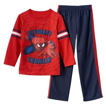 Marvel Ultimate Spider-Man Tee & Track Pants Set - Boys