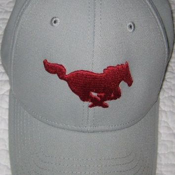 CREYRQ5 ADIDAS FITMAX'70 MUSTANG BASEBALL CAP HAT GRAY & RED SIZE LARGE TO X-LARGE