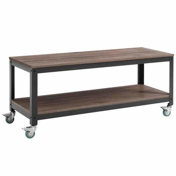 Vivify Tiered Serving or TV Stand, Gray Walnut -Modway