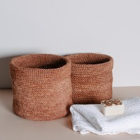 Stackable Woven Baskets (Set of 3) - Ginger