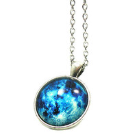 Galaxy Necklace, Galaxy Pendant, Charm Necklace, Charm Jewelry, Galaxy Jewelry, Space Lover Jewelry, Space Necklace, Astronomy Necklace