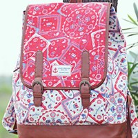Ethnic Print Backpack for Summer
