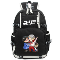 New Arrival Anime YURI!!! on ICE Victor Women Men Backpack Schoolbag Nikiforov Bolsa Mochila Masculina for Laptop Bagpack
