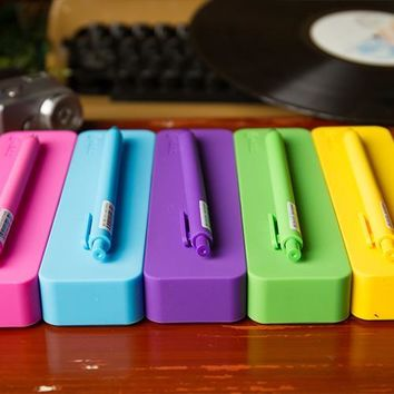 Colorful Soft Silicone Pencil Case Big Capacity Pen Set Multifunctional Storage Box Pen Stationery Students Children Gifts PL