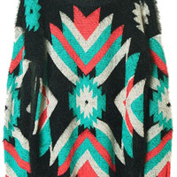 ROMWE | Retro Furry Colorful Geometric Jumper, The Latest Street Fashion