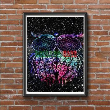 DREAMCATCHER OWL Photo Poster