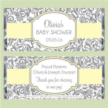 Baby Shower Floral Beauty Candy Bar Wrappers
