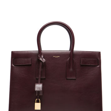 Saint Laurent | Large Sac De Jour Carryall Bag in Bordeaux www.fwrd.com