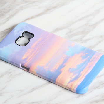 Sunset Pastel Cloudy Sea Landscape Samsung Galaxy S7 Edge Case S7 case Samsung S6 Edge Plus Case Galaxy S6 Edge S6 S5 Case Note 5 Case KB936