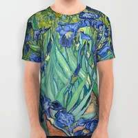 Irises by Vincent van Gogh All Over Print Shirt by Palazzo Art Gallery