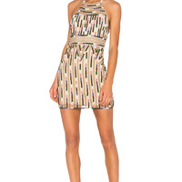 X by NBD Kenya Beaded Dress in Aztec