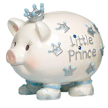 Mud Pie Baby Crown Prince Giant Piggy Bank
