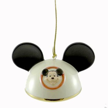 Holiday Ornament Mickey Mouse Ears Boy Porcelain Ornament