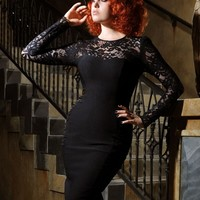 Vintage Goth Pinup Capsule Collection - Delia Dress in Black