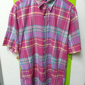 Vintage 90s Polo By Ralph Lauren Madras Multicolour Made India Shirt