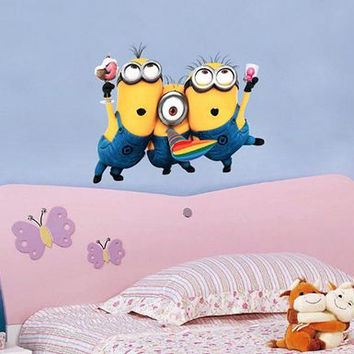 The Minions cartoon design wall deacl home decor cartoon wall sticker for kids room