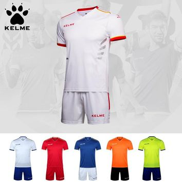 KELME Professional Customize Adult/kids Breathable Soccer jersey Uniform Set 2016 Football Jerseys Shirt K16Z2004