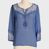 gibson girl chiffon top at ShopRuche.com