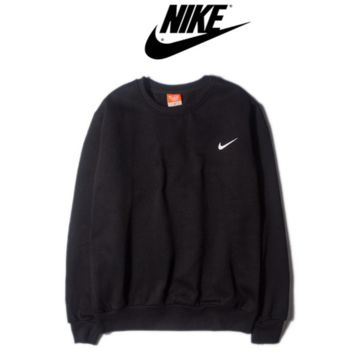 """Nike"" Fashion long sleeve sweater thick Black"