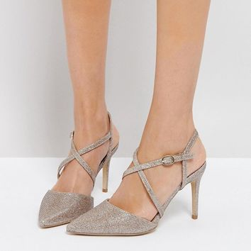 New Look Cross Front Pointed Heeled Shoes at asos.com