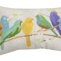 Manual Woodworkers & Weavers Birds of a Feather Indoor/Outdoor Lumbar Throw Pillow