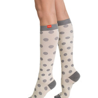 Women's Polka Dots: Cream & Grey (Cotton)