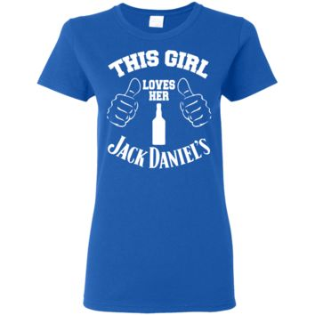 Ladies Love Jack Daniels Tee Shirt Form Fitting