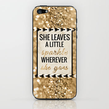 She Leaves a Little Sparkle Wherever She Goes iPhone & iPod Skin by Tangerine-Tane