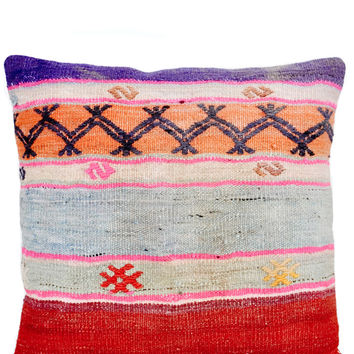 "20"" Kilim Pillow, New Mexico Stripe"
