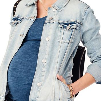 Ingrid & Isabel® Mama Denim Maternity Jacket | Nordstrom