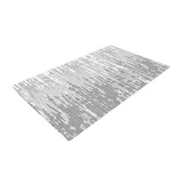 "Frederic Levy-Hadida ""Drops"" Gray Woven Area Rug"