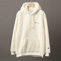 Champion Women Fashion Embroidery Hoodie Top Sweater