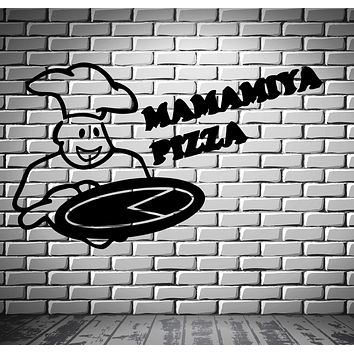 Business Pizza Italian Food Wall Art Decor Vinyl Sticker Unique Gift z685