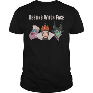 2017 Disney Resting witch face shirt Guys Tee