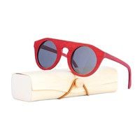 Unique Red Bamboo Polarized sunglasses