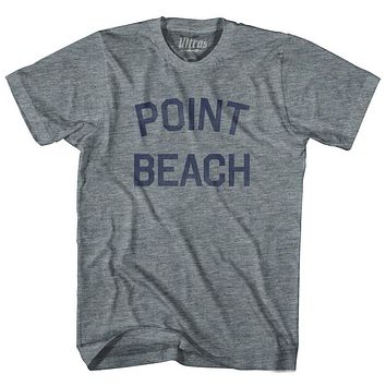 Wisconsin Point Beach Adult Tri-Blend Vintage T-shirt