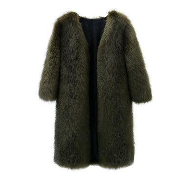 High quality Women Fur Coat Winter Women Long Faux Fox Fur Coats Luxury Womens Fake Fur Jacket High Quality Faux Fur Coat Jacket