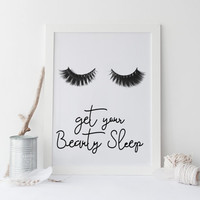 Beauty print MASCARA PRINT svg eyelashes print LASH prints makeup chanel party favors eyelashes,Lips eyelashes print,Get your beauty sleep