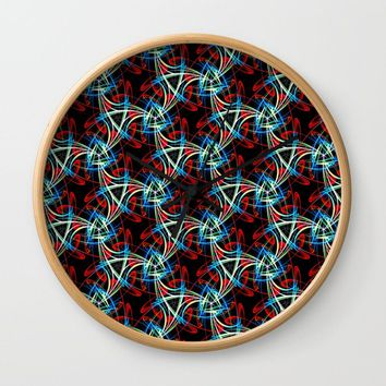 Crazy Wild Pattern Wall Clock by kasseggs