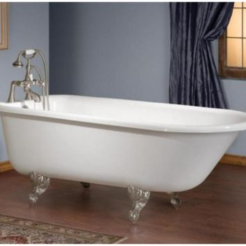 Buy Cheviot 2092-WW Traditional Cast Iron Bathtub with Tub Wall Faucet Holes