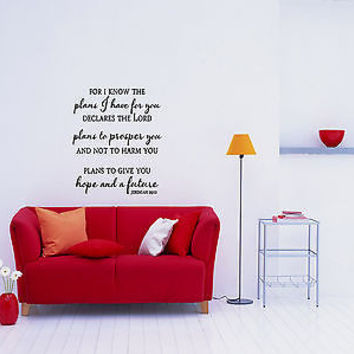 For I Know The Plans I Have For You quote wall sticker decal wall art decor 5493