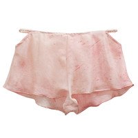Cut-out Tap Shorts - Pink Speckle