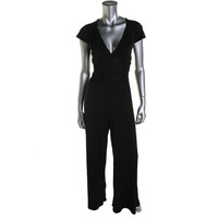 Guess Womens Lace Pleated Jumpsuit