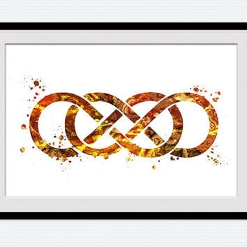 Infinity symbol poster Infinity symbol print Watercolor infinity illustration Home decoration Wall hanging decor Infinity wall art  W402